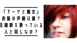 「アーヤと魔女」赤髪の声優は誰?主題歌とエンディングのボーカルと同じ?