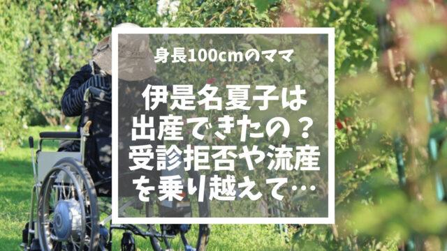 伊是名夏子はどうやって出産した?受診拒否や流産を乗り越えて身長100cmの母になる