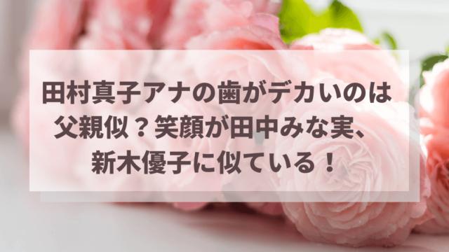 田村真子アナの歯がデカいのは父親似?笑顔が田中みな実、新木優子に似ている!
