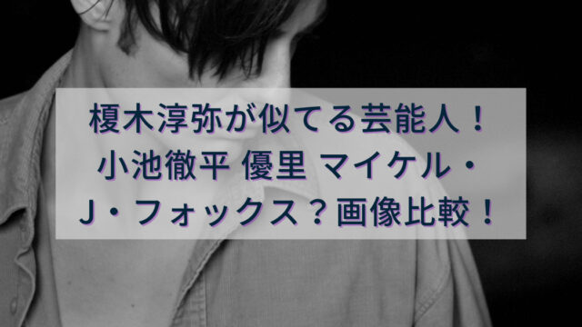 榎木淳弥が似てる芸能人は小池徹平、優里、マイケル・J・フォックス?画像比較!