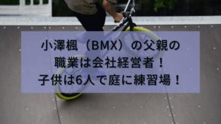 小澤楓(BMX)の父親の職業は会社経営者!子供は6人で庭に練習場も