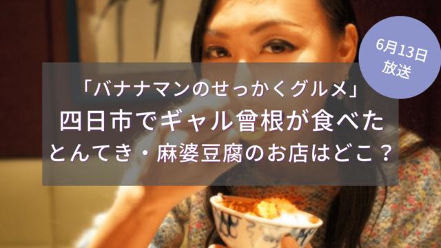 四日市でギャル曾根が食べたとんてき・麻婆豆腐のお店はどこ?6/13せっかくグルメ