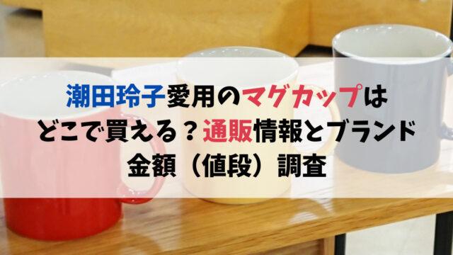 潮田玲子愛用のマグカップはどこで買える?通販情報とブランド、金額(値段)調査