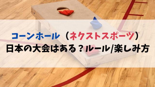コーンホール(ネクストスポーツ)日本の大会はある?ルールと楽しみ方まとめ