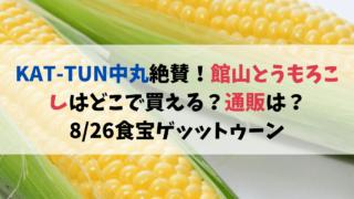 KAT-TUN中丸絶賛!館山とうもろこしはどこで買える?通販は?8/27食宝ゲッットゥーン